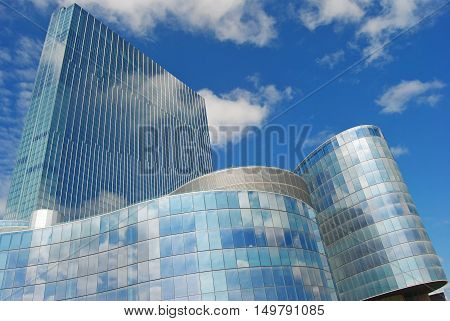Atlantic City, USA - September 7, 2014. Revel Atlantic City resort, hotel and casino right after the place declared bankruptcy in September 2014.