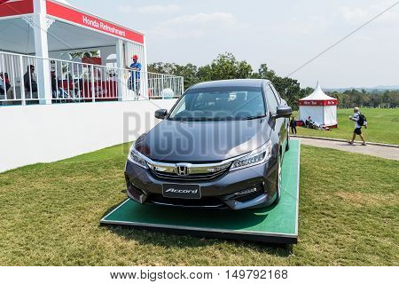 CHONBURI - FEBRUARY 27: Honda Accord in Honda LPGA Thailand 2016 at Siam Country Club Pattaya Old Course on February 27 2016 in Chonburi Thailand.