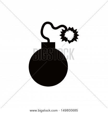 bomb icon stock vector illustration flat design