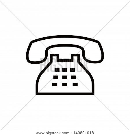 phone icon stock vector illustration flat design