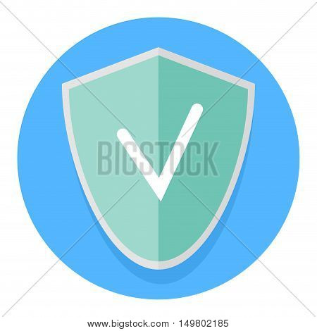 Icon antivirus application. Internet security and computer antivirus malware and firewall vector illustration