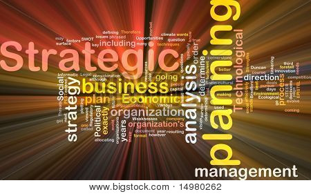 Software package box Word cloud concept illustration of strategic planning