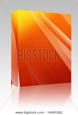 Software package box Abstract wallpaper background illustration of smooth flowing colors poster