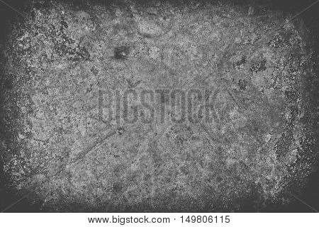 Bright Black Scratched Grunge Wall Background Or Texture