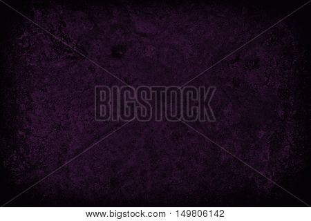 Dark Purple Scratched Grunge Wall Background Or Texture