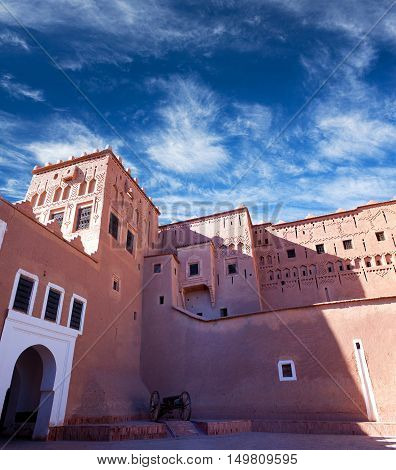 Famous Kasbah Taourirt In Eastern Ouarzazate, Morocco