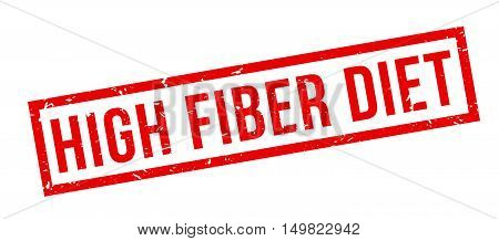 High Fiber Diet Rubber Stamp
