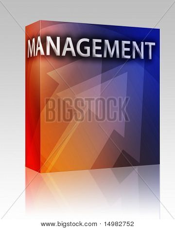 Software package box Management illustration, abstractstrategy success concept clipart