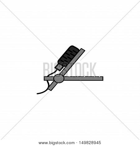 Different microphones types vector icons. Journalist microphone, interview microphone, music studio microphone. Web broadcasting microphone, vocal microphone, tv show microphone. Microphones icons