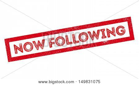 Now Following Rubber Stamp