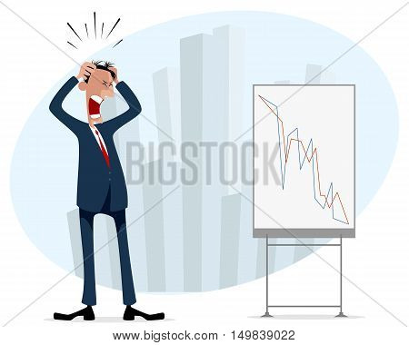 Vector illustration of a businessman with schedule