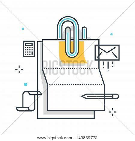 Paper Clip Illustration