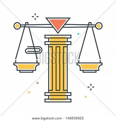 Law Scale Illustration