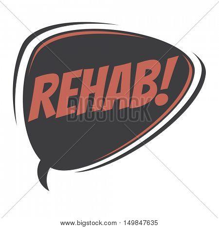 rehab retro speech balloon