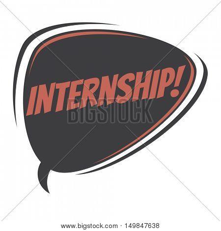 internship retro speech balloon