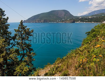 View of Mount Ayu-Dag from cape Plaka Crimea