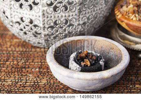 Myrrh is an aromatic resin, used for religious rites, incense and perfumes