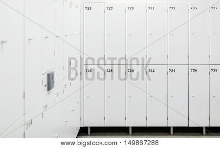 White Change Room Lockers