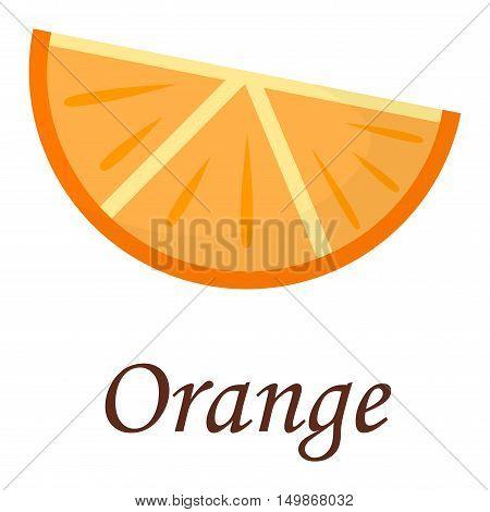 Slice of fresh orange isolated on white background fruit. Orange slice vector citrus food, orange slice juicy organic sweet vitamin. Tasty healthy cut exotic fruit.