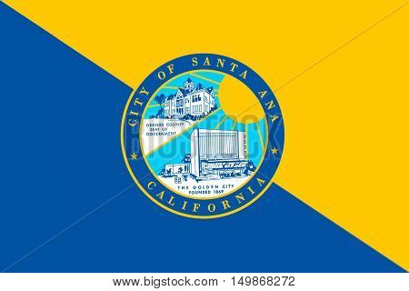 Flag of Santa Ana is the city in Orange County of California United States
