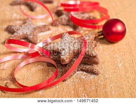 Christmas Sweets And Red Ribbon