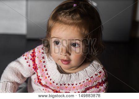 beautiful stylish girl in black background wall cheerful emotions girls perky girl