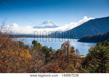 Beautiful Mt Fuji view from the lake