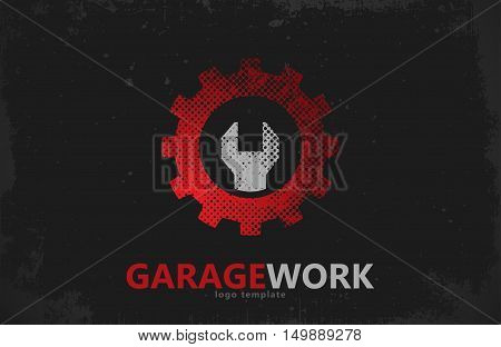 Auto repair. Garage work logo. Auto service