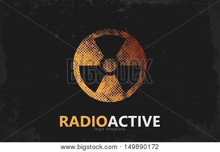 Nuclear logo. Radioactive logo design. Radiation symbol