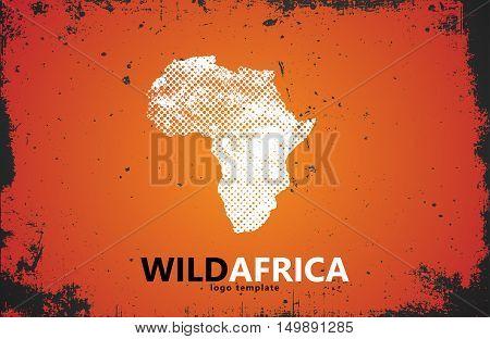 Africa logo. Wild africa design. Africa poster design