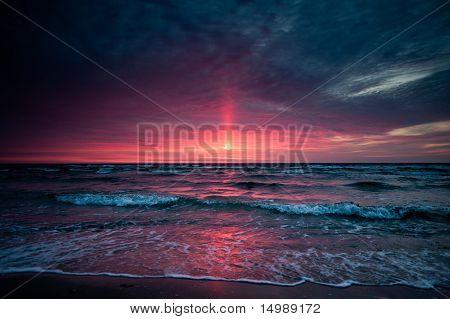 Light Ray Sunset