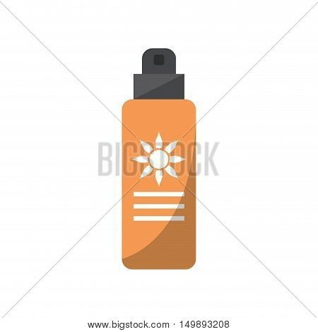 Sunscreen sunblock bottle icon. Summer protection vacations and sea lifestyle theme. Isolated design. Vector illustration