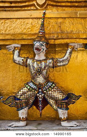Mythical Giant Guardian at Wat Phra Kaew