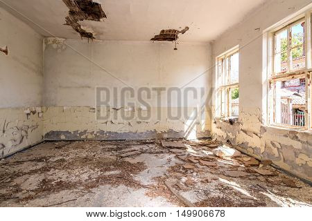 Abandoned And Destroyed Room