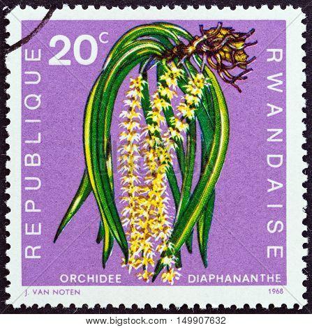 RWANDA - CIRCA 1968: A stamp printed in Rwanda from the