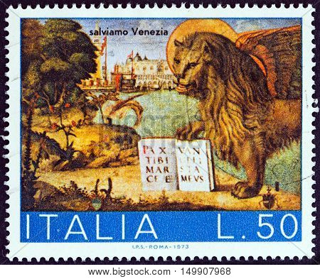 ITALY - CIRCA 1973: A stamp printed in Italy from the