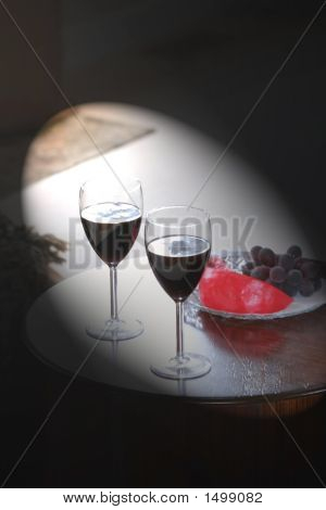 Wine Glass Set Up