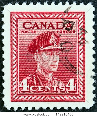 CANADA - CIRCA 1942: A stamp printed in Canada from the