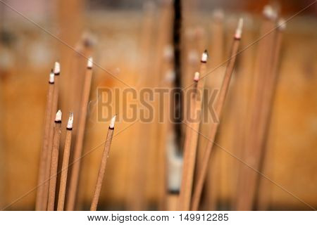 Stock image of Incense Stick Burning in a temple