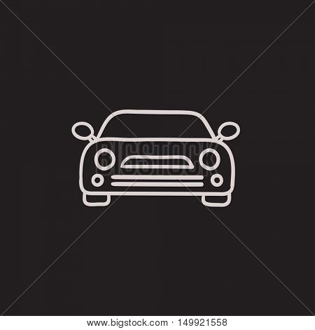Car vector sketch icon isolated on background. Hand drawn Car icon. Car sketch icon for infographic, website or app.