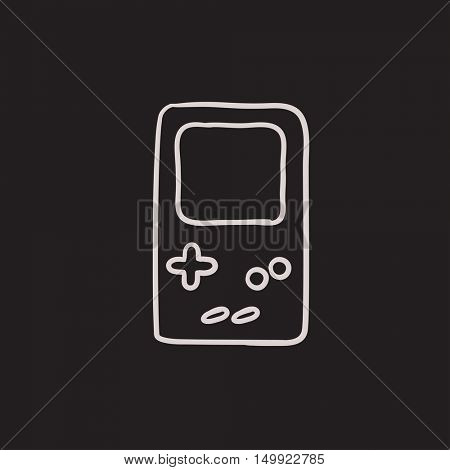 Electronic game vector sketch icon isolated on background. Hand drawn Electronic game icon. Electronic game sketch icon for infographic, website or app.
