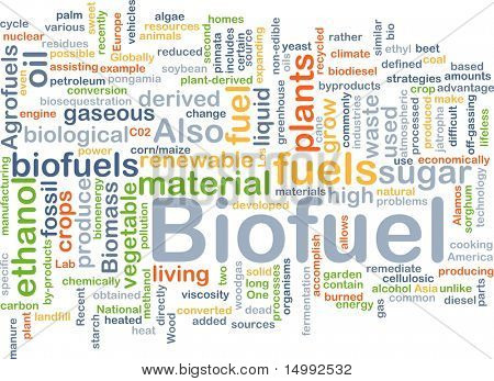 Background concept illustration of biofuel renewable fuel