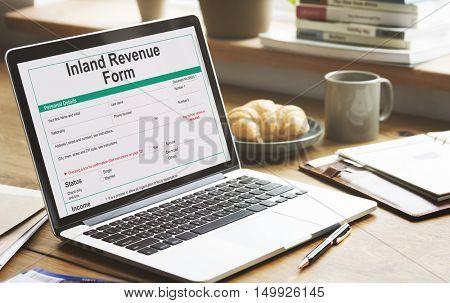 Inland Revenue Form Details Concept