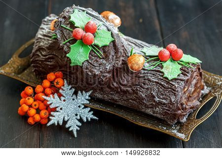 Homemade Christmas Chocolate ,,,, Log.