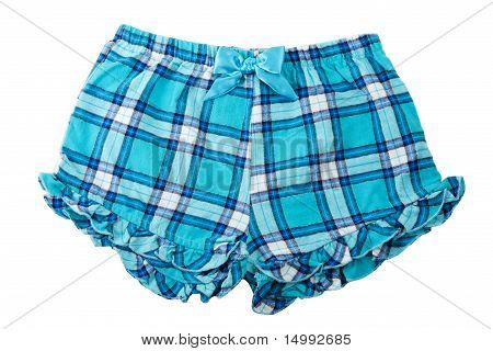 Plaid Blue Shorts