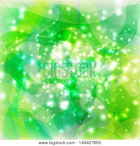 abstract green lights design for decorative graphic