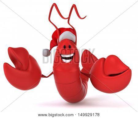 Fun lobster - 3D Illustration