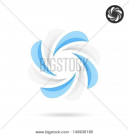Flower shaped - segmented circle icon 2d geometric figure isolated on white background eps 10