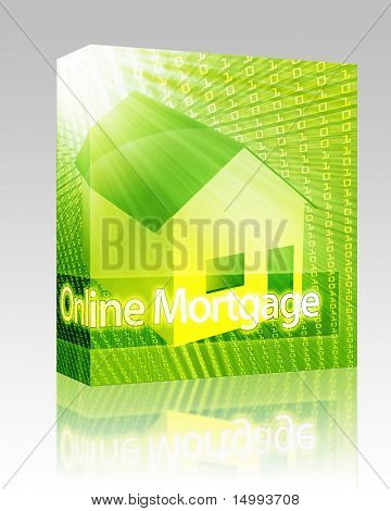 Software package box Online housing real estate internet website ecommerce