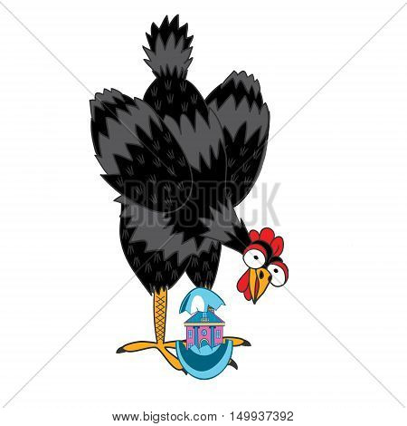 Funny vector illustration of a handmade . Will serve as images for greeting cards or book illustrations. Can be used for advertising as well as print on a t-shirt